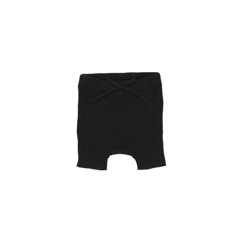 Analogie Black Knit Short Leggings