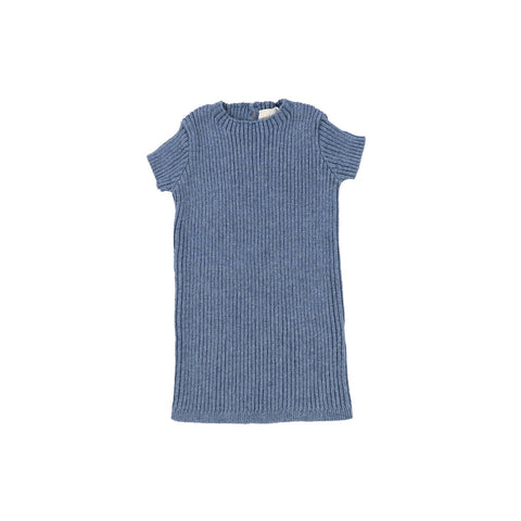 Analogie Blue Short Sleeve Knit Sweater