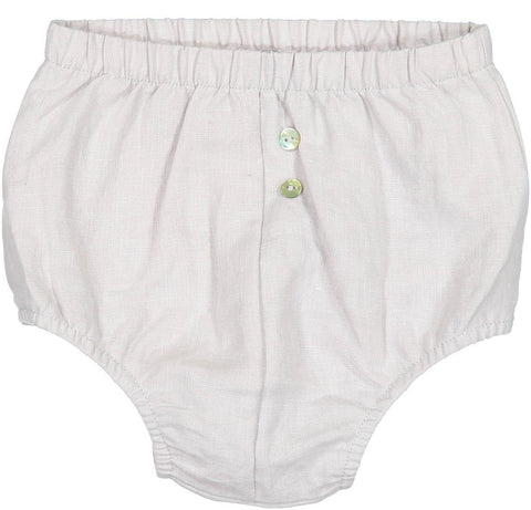 Analogie Unisex-baby Light Grey Linen Bloomers