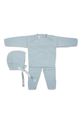 Antonella Blue Knit Set