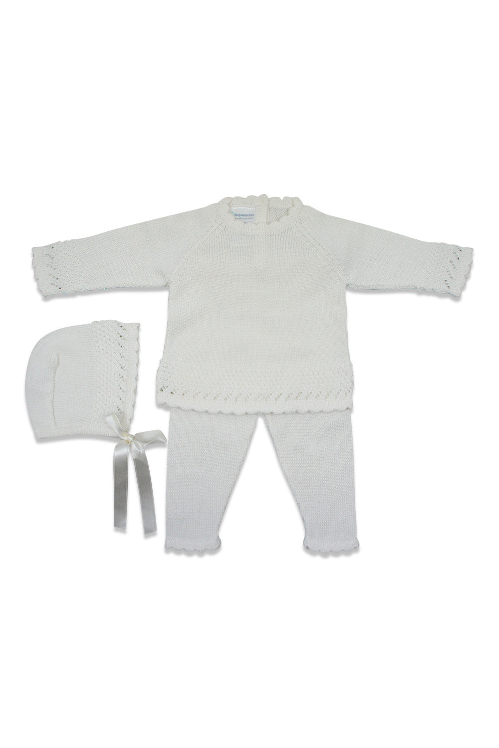 Antonella Ivory Knit Scalloped Set