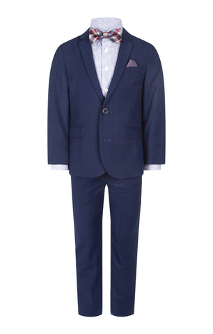 Appaman Blue Windowpane 2-Piece Mod Suit