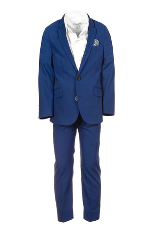 Appaman Palace Blue Herringbone Mod Suit