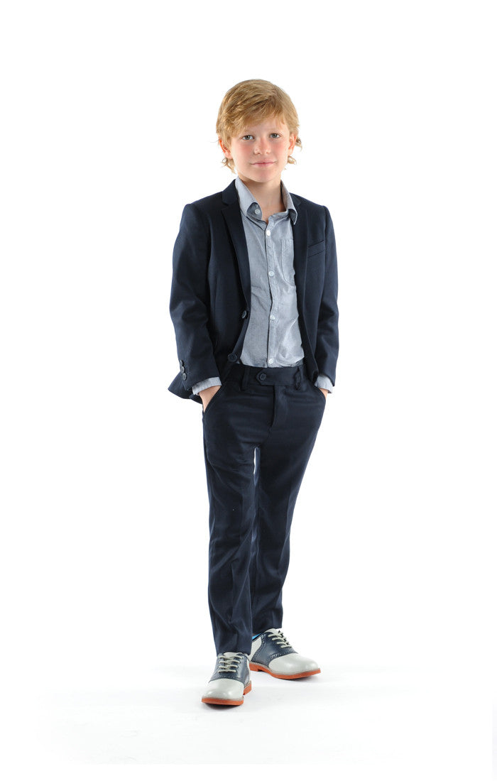 Appaman Navy Blue Mod Suit - Young Timers Boutique  - 1