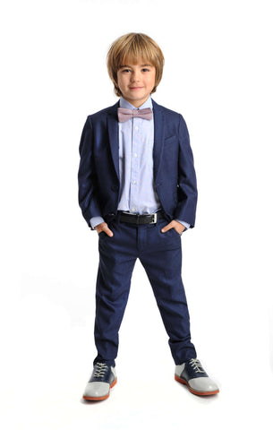 Appaman Navy Herringbone Mod Suit - Young Timers Boutique