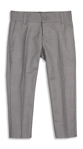 Armando Boys' Light Grey Slim Fit Pant