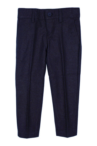Armando Boys Dark Blue Wool Skinny Fit Pants
