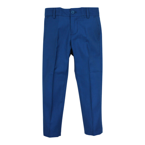 Armando Boys' Teal Slim Fit Pant