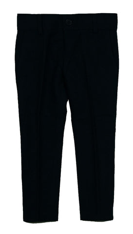 Armando Boys Black Wool Skinny Fit Pants