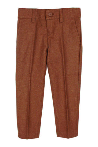 Armando Boys' Wool Look Skinny Fit Brick Pant