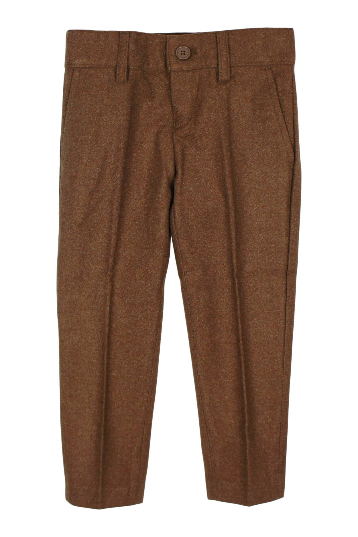 Armando Boys' Wool Look Slim Fit Camel Pant