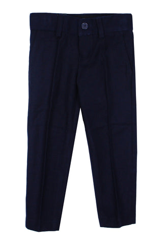 Armando Boys' Wool Look Slim Fit Navy Pant