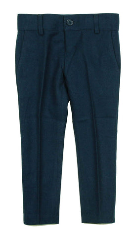 Armando Boys' Wool Look Skinny Fit Dark Teal Pant