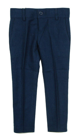 Armando Boys' Wool Look Slim Fit Indigo Pant