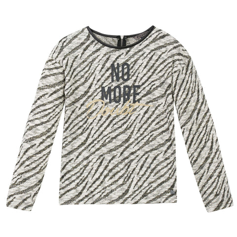 B-Karo Zebra Pull Sweater - Young Timers Boutique  - 1