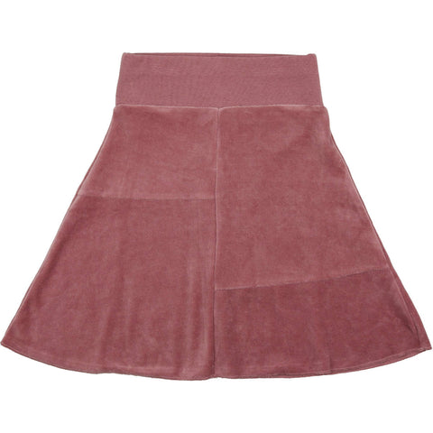 Urbani Mauve Velour Skirt