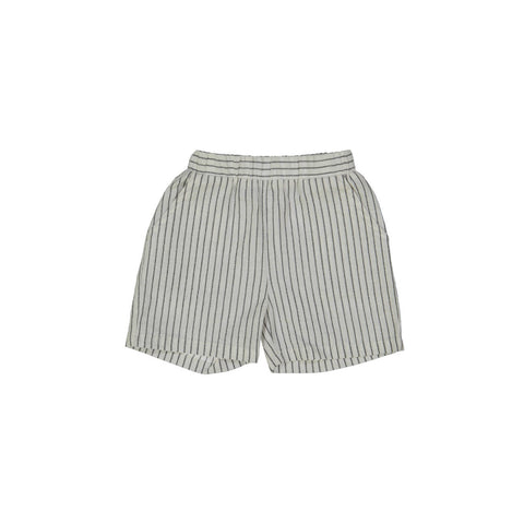 Belati Boys' Black Stripe Loose Shorts