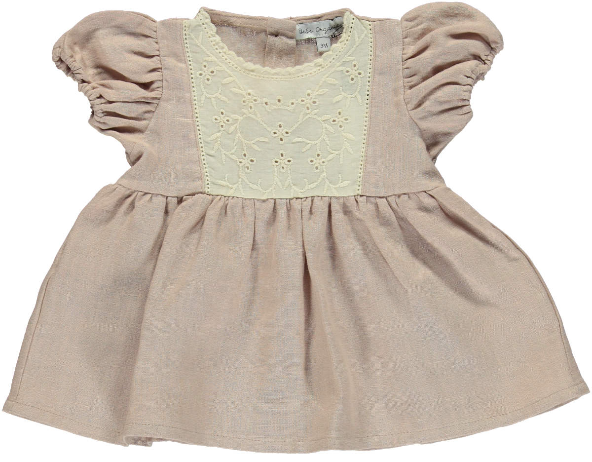 Bebe Organic Dusty Rose Amelia Dress