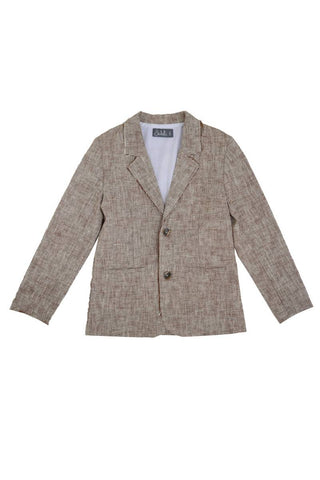 Belati Brown GRAIN LINEN CLASSIC JACKET