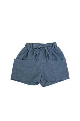 Belati Indigo Pocket Shorts