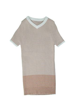 Belati Nude STRIPED RIBBED KNIT WITH COLOR BLOCKING