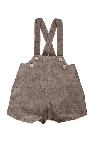 Belati Summer Brown DISTRESSED BABY OVERALLS