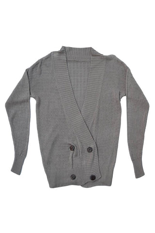 Belati Summer Brown DOUBLE BREASTED WAFFLE CARDIGAN