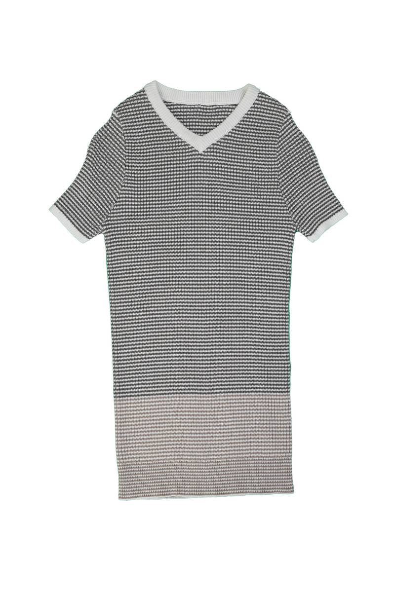 Belati Summer Brown STRIPED RIBBED KNIT WITH COLOR BLOCKING