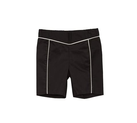 Blumint Boys' Black Bermudas with White Piping
