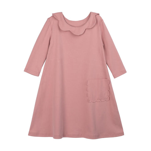 Bon Rever Pale Pink Scalloped Nightgown