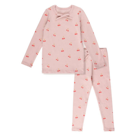 Bon Rever Pink Cherry Long Pj's