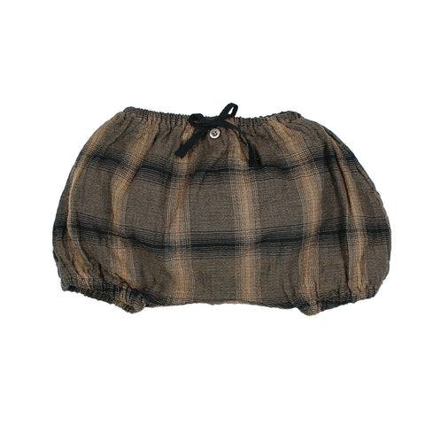Buho Brown Plaid Poppy Bloomer