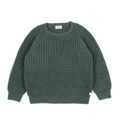 Buho Pine Green Serge Sweater