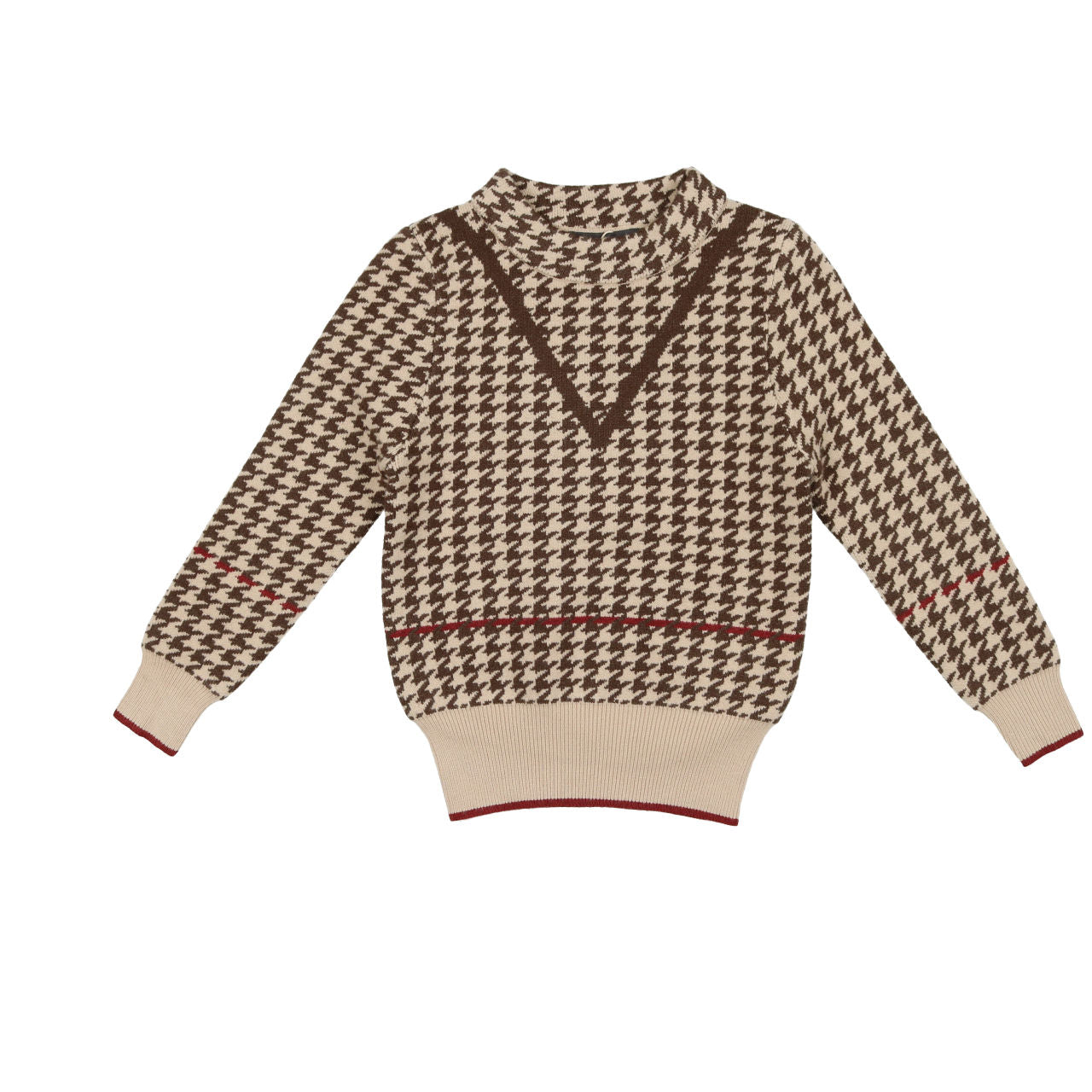 Belati Brown Houndstooth Sweater