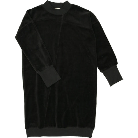 Urbani Black Velour Dress