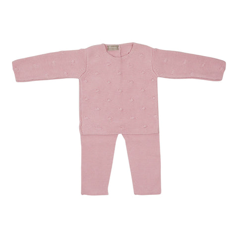 Carmina Baby Girls' Pink Dot Knit Set