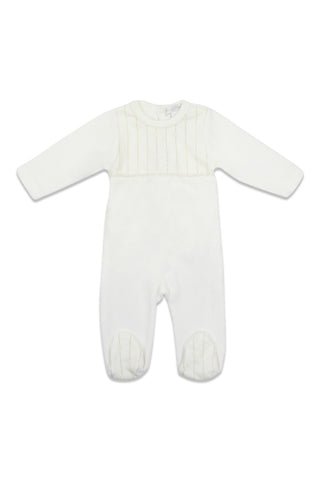 Chant De Joie Ivory With Gold Detail Footie