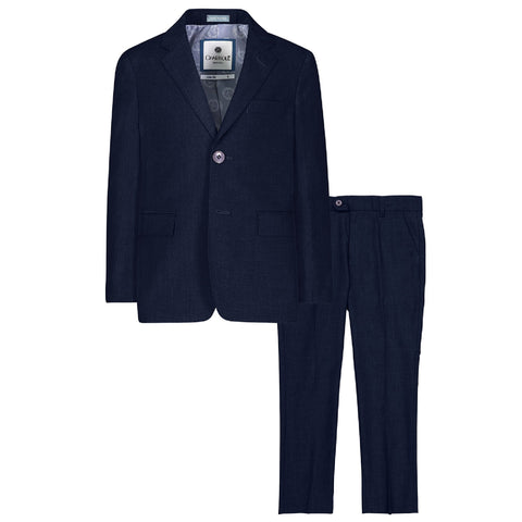 Charkole Blue Grey Slim Fit Two Piece Suit