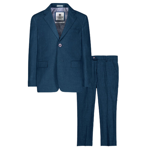 Charkole Teal Slim Fit Two Piece Suit