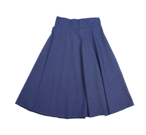 Chi Chi Girls' Denim Ponte Roma Skirt