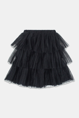 Christina Rohde Black Tulle Skirt