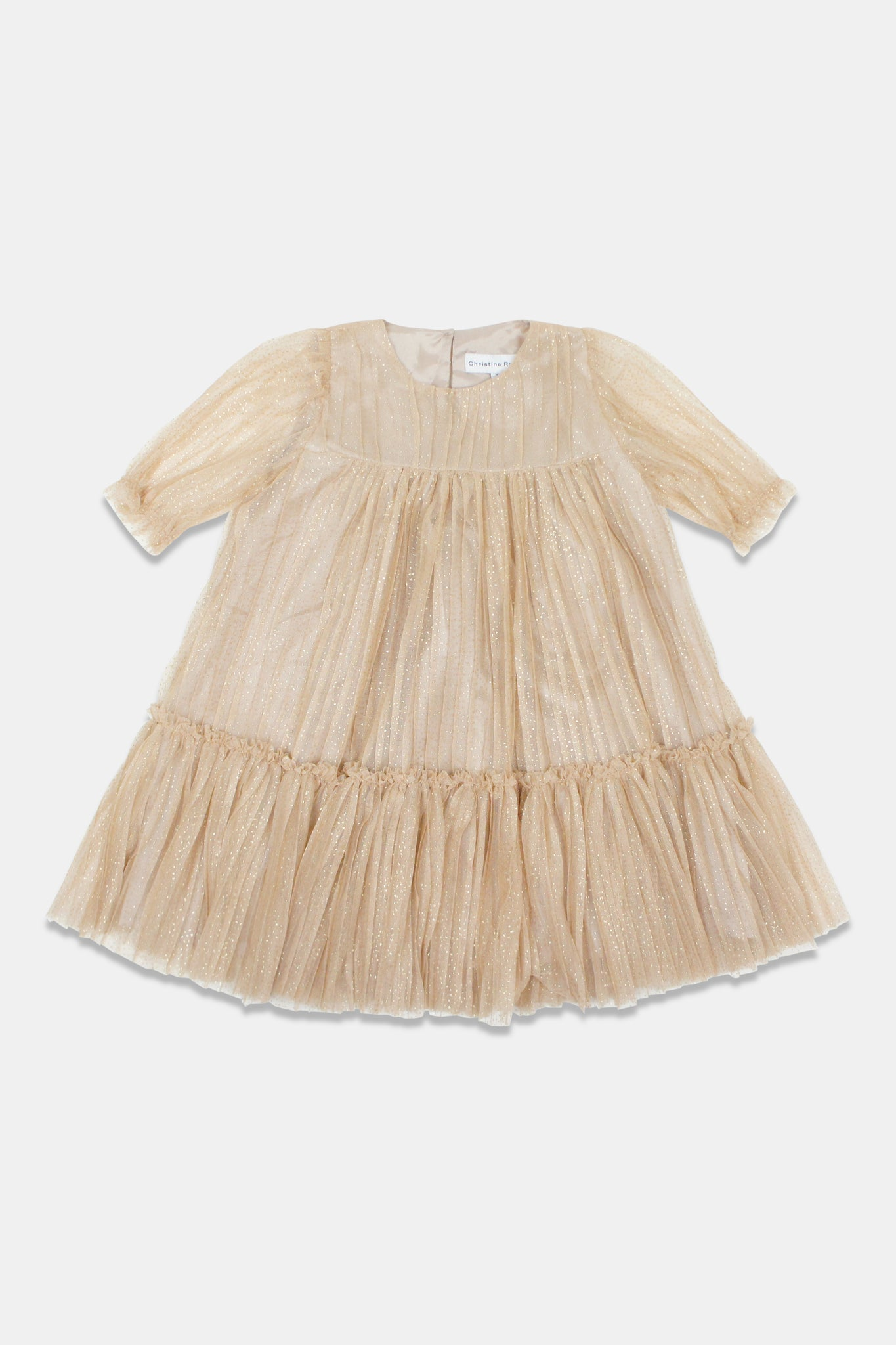 Christina Rohde Gold Tulle Dress