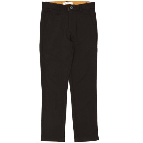 Coco Blanc Black Heathered Wool Pants