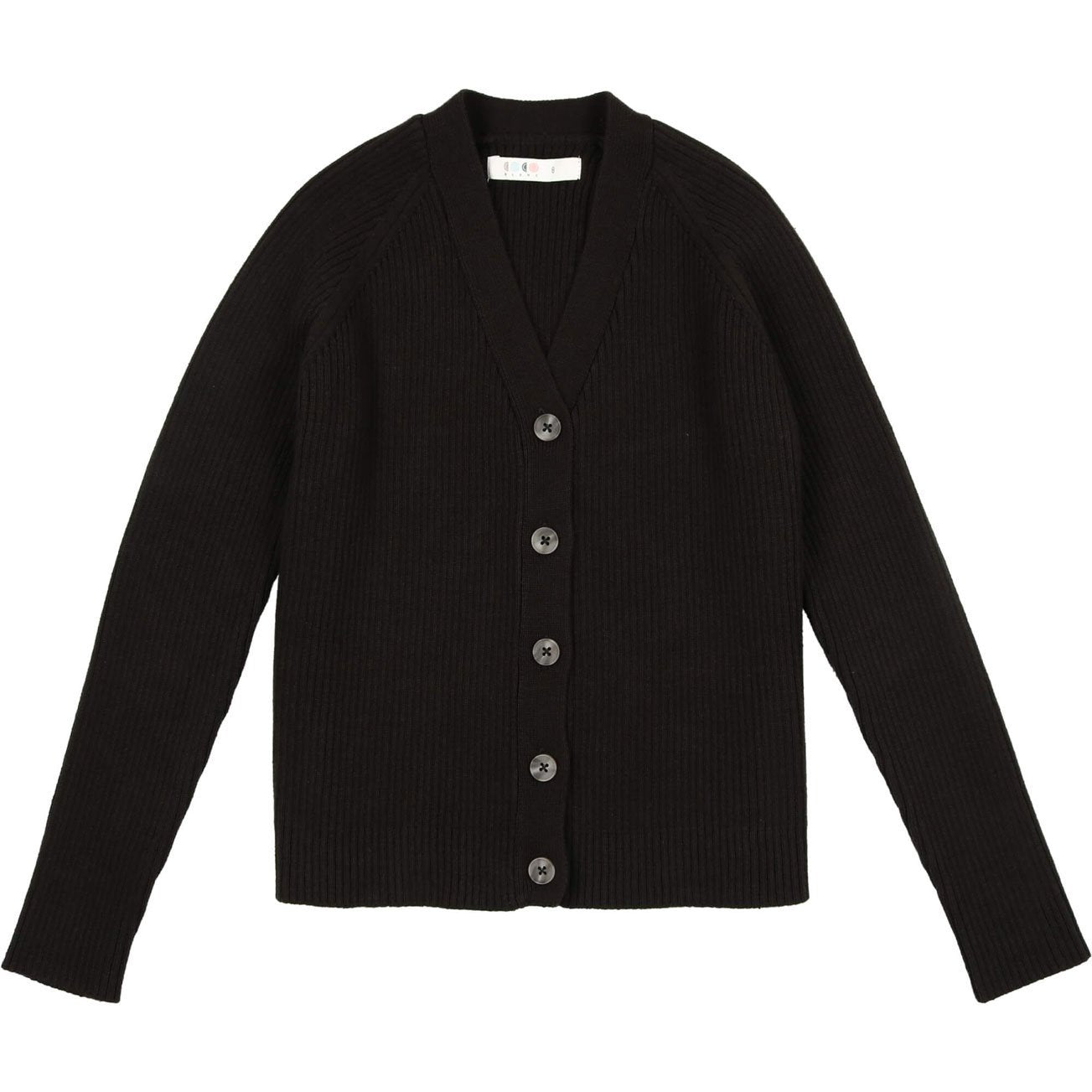 Coco Blanc Black Ribbed Cardigan