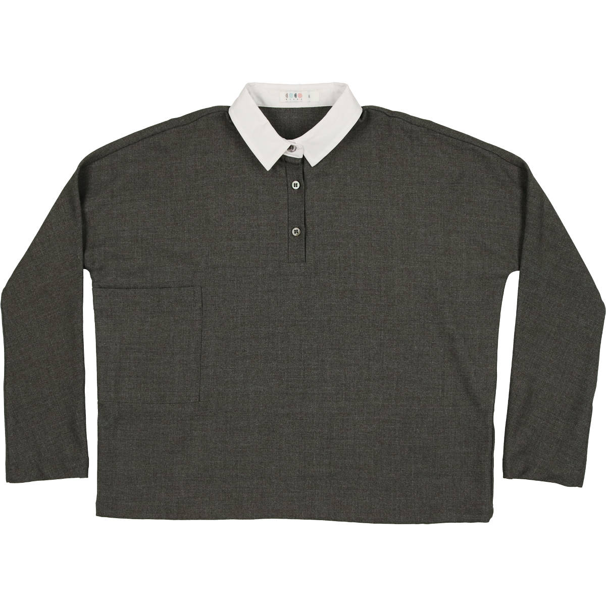 Coco Blanc Grey Heathered Wool Shirt