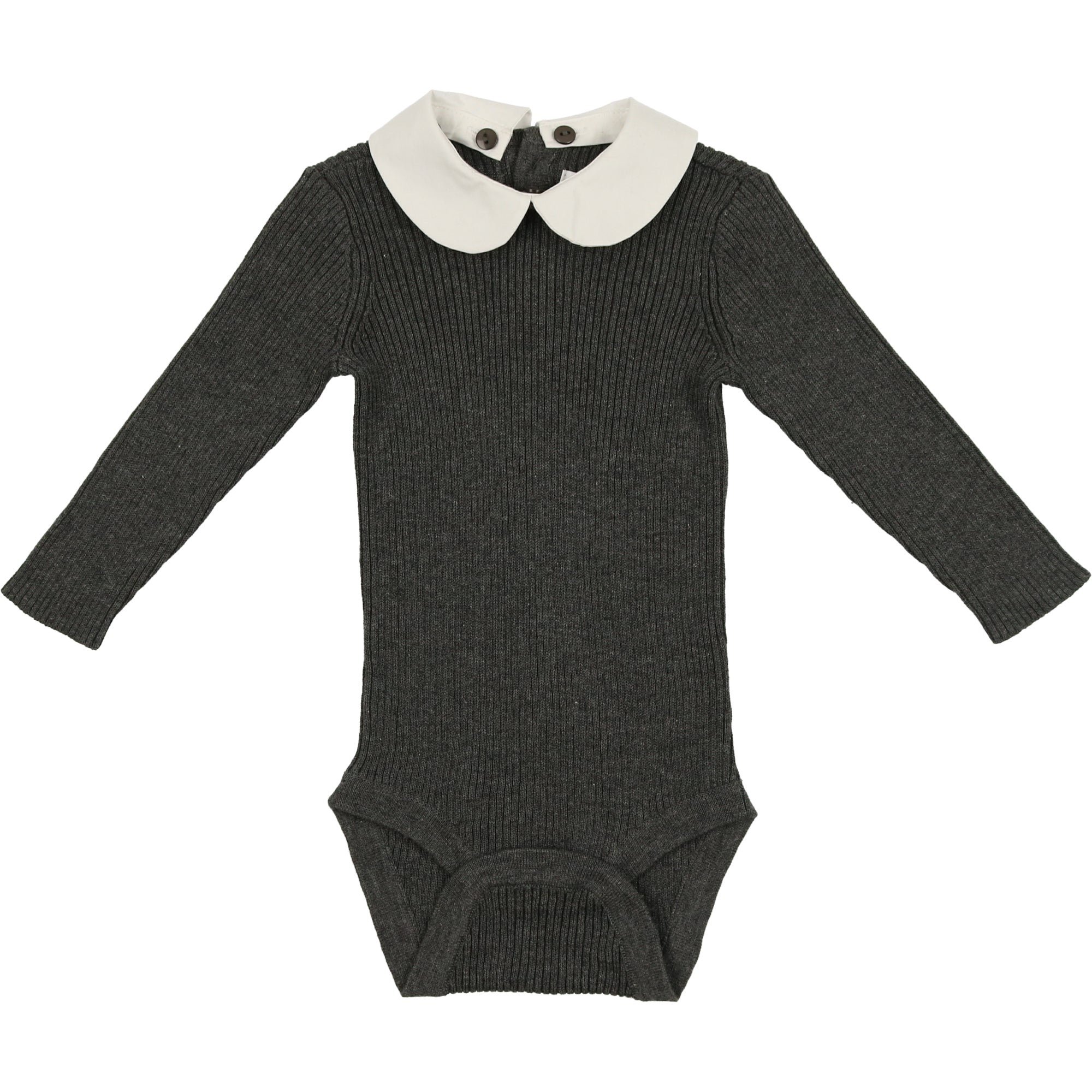 Coco Blanc Heathered Grey Peter Pan Onesie