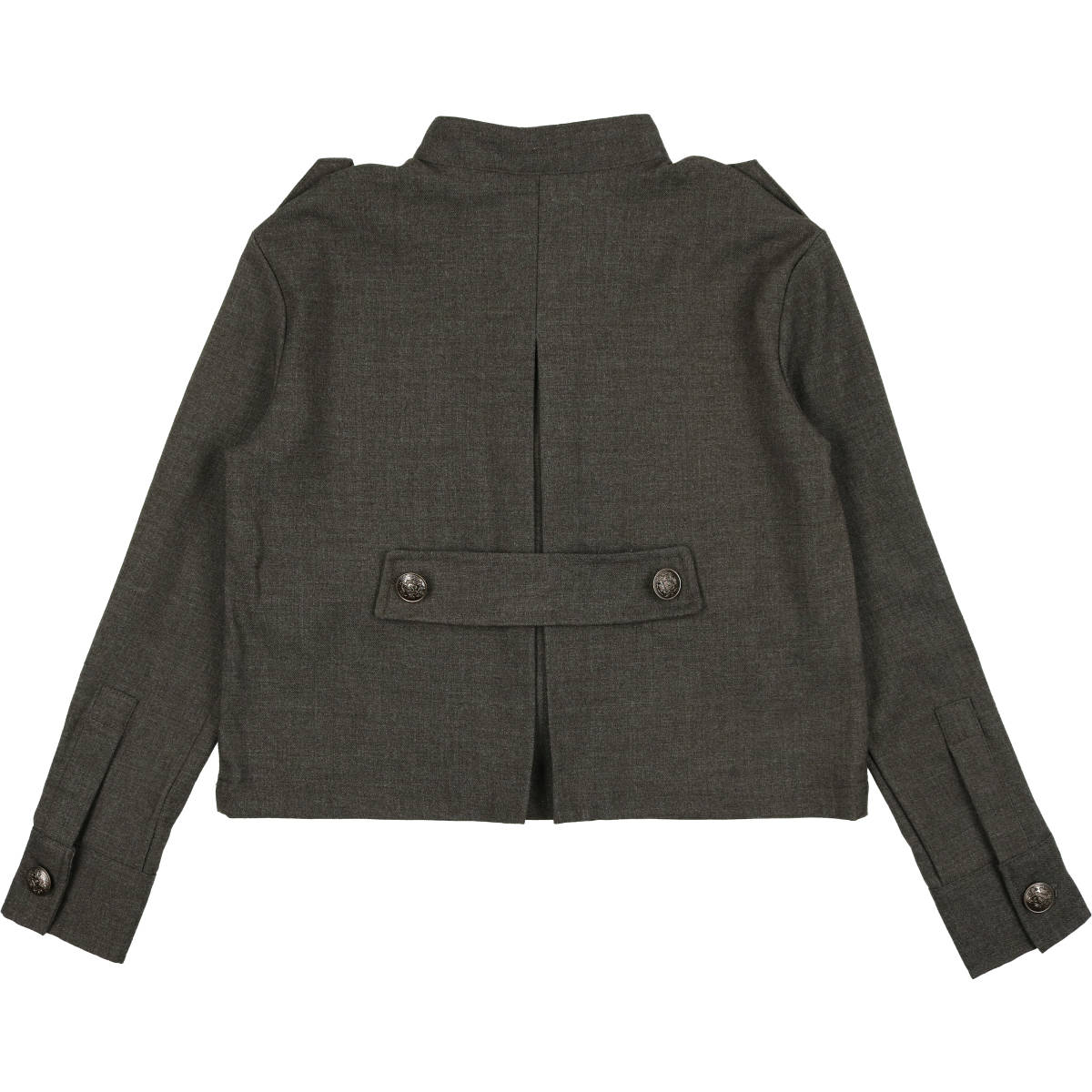 Coco Blanc Heathered Grey Wool Blazer