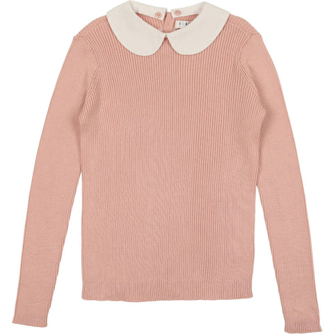 Coco Blanc Heathered Mauve Peter Pan Sweater