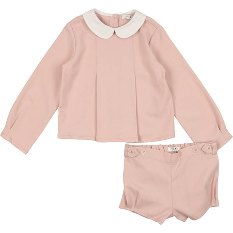 Coco Blanc Mauve Wool Peter Pan Set