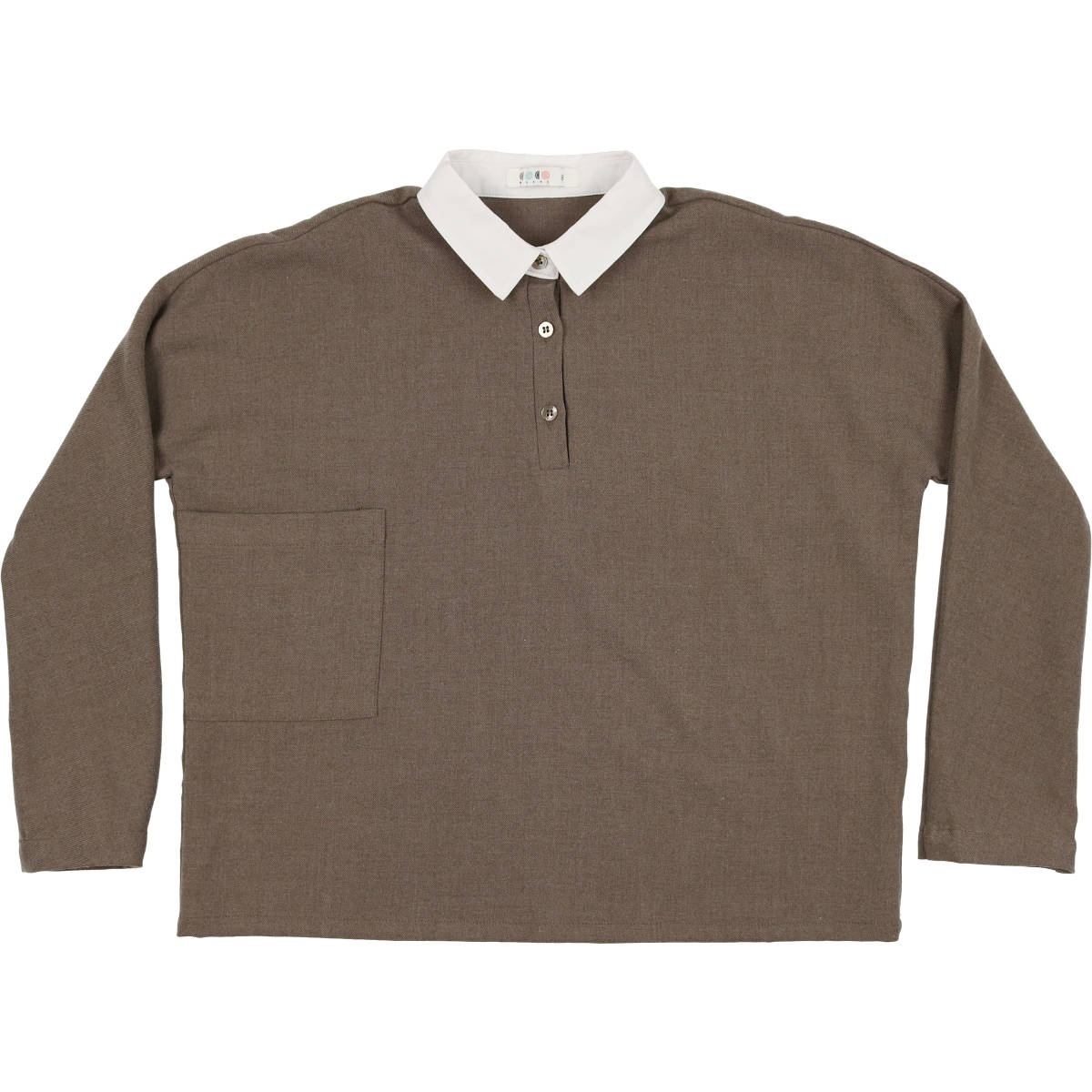 Coco Blanc Toffee Heathered Wool Shirt